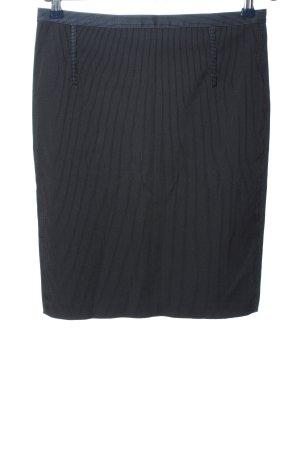 Mango Suit Bleistiftrock schwarz-hellgrau Streifenmuster Business-Look