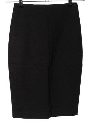 Mango Suit Bleistiftrock schwarz Casual-Look