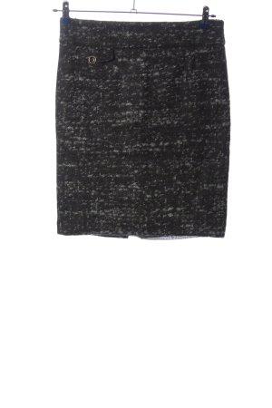 Mango Suit Bleistiftrock schwarz-hellgrau meliert Casual-Look