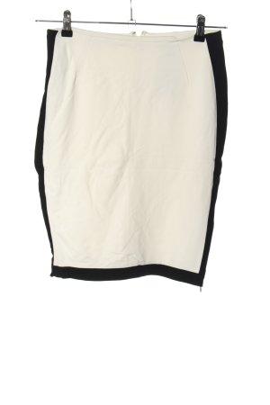 Mango Suit Bleistiftrock weiß-schwarz Casual-Look