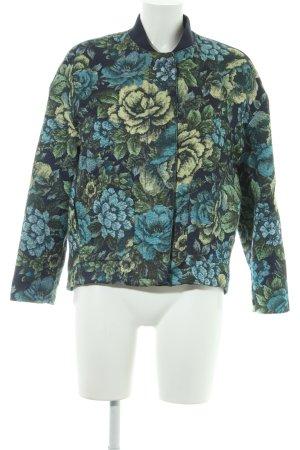 Mango Suit Blouson Blumenmuster schlichter Stil