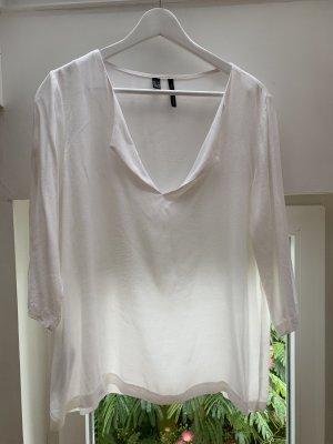 Mango Suit Bluse 3/4 Arm mit lockerem Ausschnitt