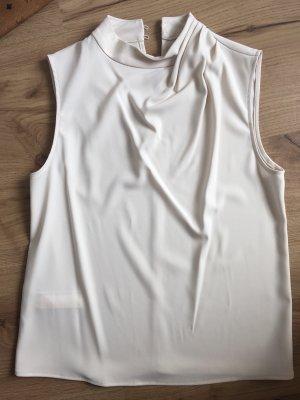 Mango Suit Bluse Top Shirt creme weiß S 36