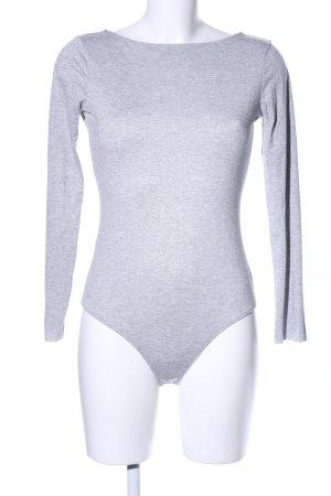 Mango Suit Chemisier body gris clair tissu mixte