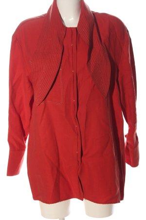 Mango Suit Blusenjacke rot Streifenmuster Casual-Look