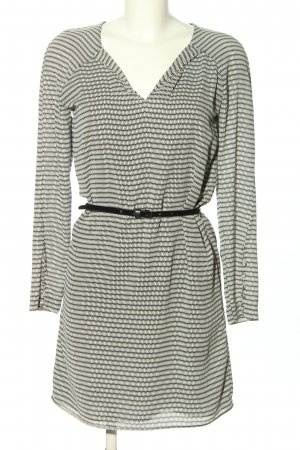 Mango Suit Blusenkleid schwarz-weiß Allover-Druck Business-Look