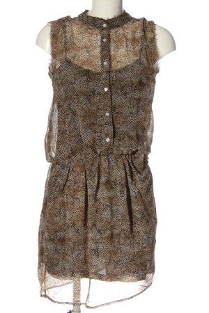 Mango Suit Blusenkleid braun-schwarz Allover-Druck Casual-Look