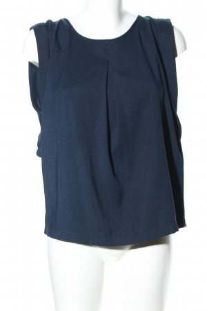 Mango Suit Blusentop blau Business-Look