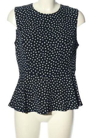 Mango Suit Blusentop schwarz-weiß Punktemuster Casual-Look