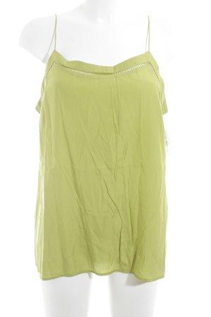 Mango Suit Blusentop blassgrün Business-Look