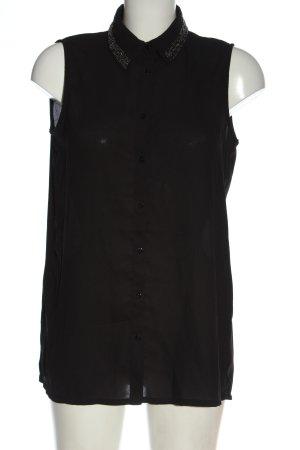 Mango Suit Blusentop schwarz Elegant