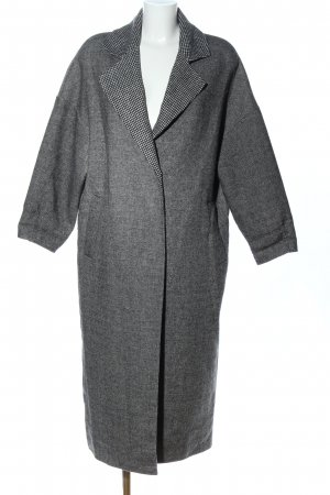 Mango Suit Floor-Lenght Coat light grey flecked business style
