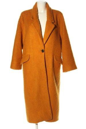 Mango Suit bodenlanger Mantel hellorange Casual-Look