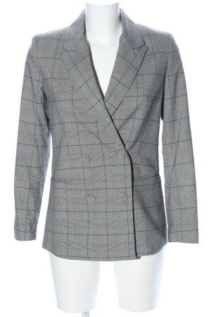 Mango Suit Boyfriend-Blazer hellgrau-grün Karomuster Business-Look