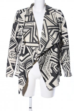 Mango Suit Cardigan schwarz-wollweiß Allover-Druck Casual-Look