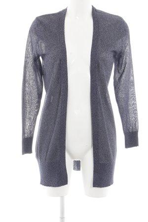Mango Suit Cardigan dunkelblau-silberfarben meliert schlichter Stil