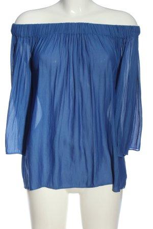 Mango Suit Carmen-Bluse blau Casual-Look