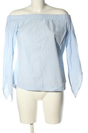 Mango Suit Carmen Blouse blue casual look