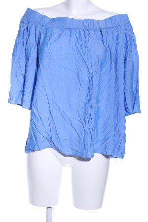 Mango Suit Carmen Shirt blue casual look