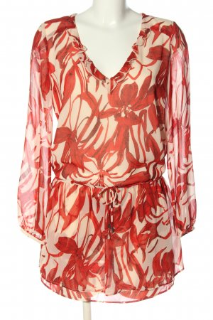 Mango Suit Chiffon jurk rood-room volledige print casual uitstraling