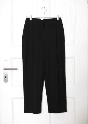 Mango Spodnie z wysokim stanem czarny
