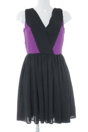Mango Suit Cocktailkleid schwarz-lila Elegant