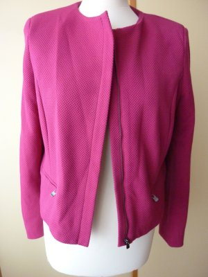 Mango Suit Collection Kurz - Blazer Kastenjacke 38 M pink cyclam himbeere kastig Bolero Business