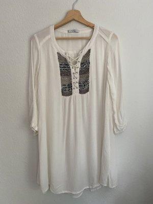 Mango Suit Collection Tunikakleid weiß Gr. S