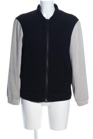 Mango Suit Chaqueta estilo universitario negro-gris claro look casual
