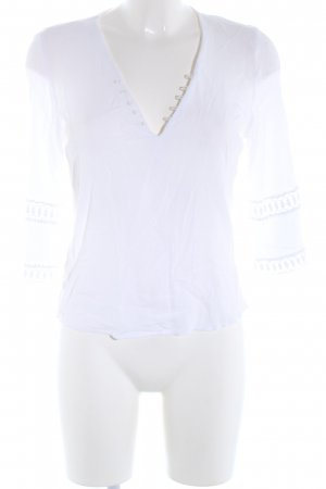 Mango Suit Blusa estilo Crash blanco look casual