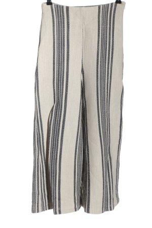 Mango Suit Culotte blanc cassé-gris clair motif rayé style décontracté