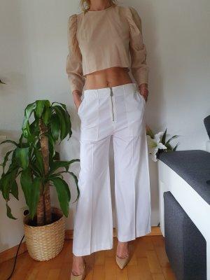 Mango Falda pantalón de pernera ancha blanco