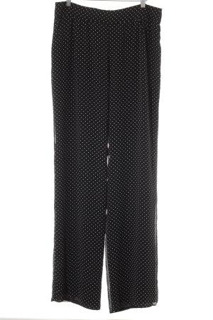 Mango Suit Culottes black-white spot pattern casual look