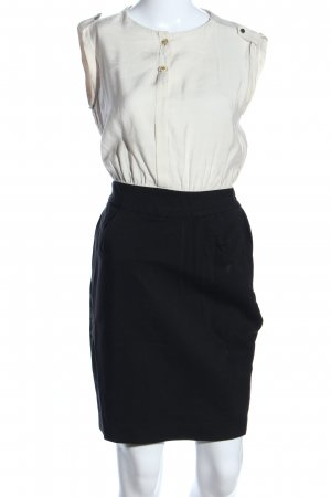Mango Suit Etuikleid wollweiß-schwarz Business-Look