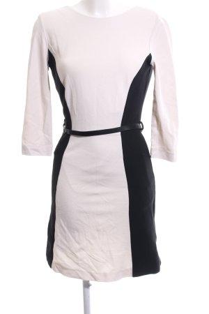 Mango Suit Etuikleid schwarz-creme Elegant