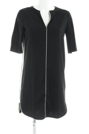 Mango Suit Etuikleid schwarz-weiß Business-Look