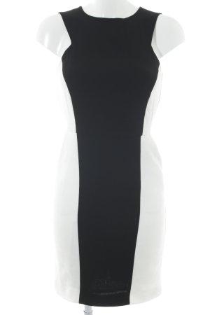 Mango Suit Etuikleid schwarz-weiß Elegant
