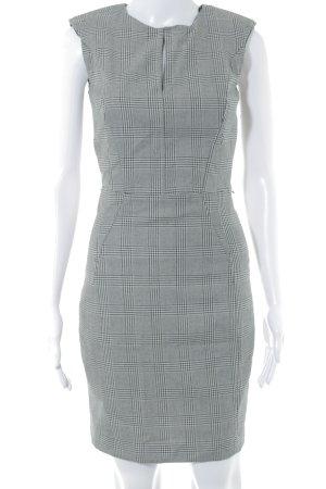 Mango Suit Etuikleid schwarz-wollweiß Hahnentrittmuster Business-Look