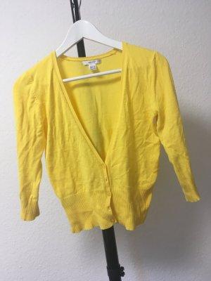 Mango Suit Feinstrick Jacke gelb M