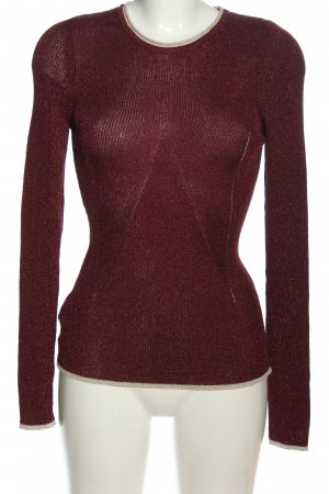 Mango Suit Feinstrickpullover rot Casual-Look