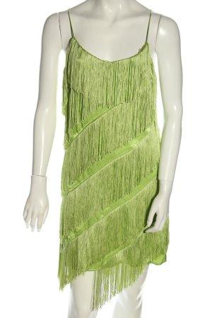 Mango Suit Sukienka z frędzlami zielony Z połyskiem