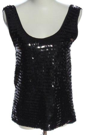 Mango Suit Glanzende blouse zwart glitter-achtig