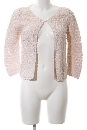 Mango Suit Häkel Cardigan pink Casual-Look