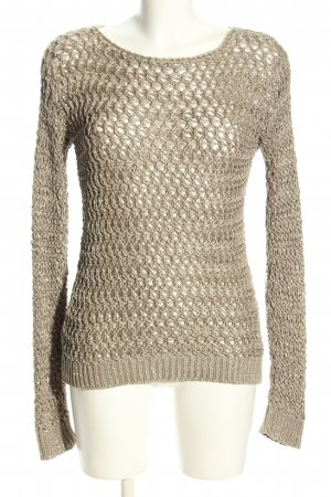 Mango Suit Szydełkowany sweter w kolorze białej wełny W stylu casual