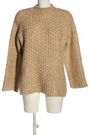Mango Suit Crochet Sweater cream casual look