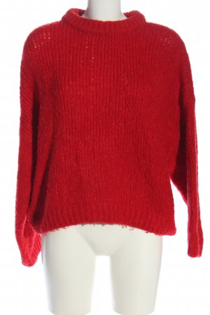 Mango Suit Crochet Sweater red casual look