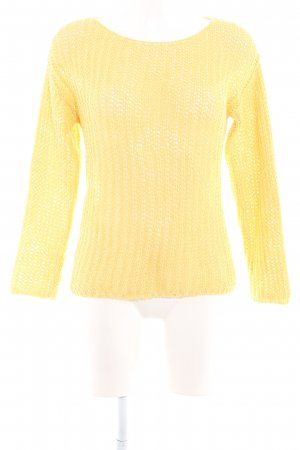 Mango Suit Häkelpullover gelb Casual-Look