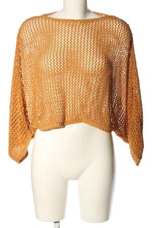 Mango Suit Gehaakt shirt licht Oranje casual uitstraling