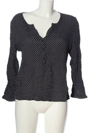Mango Suit Hemd-Bluse schwarz-weiß Allover-Druck Casual-Look