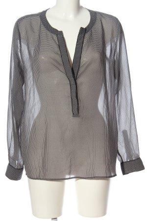 Mango Suit Hemd-Bluse schwarz-weiß Casual-Look